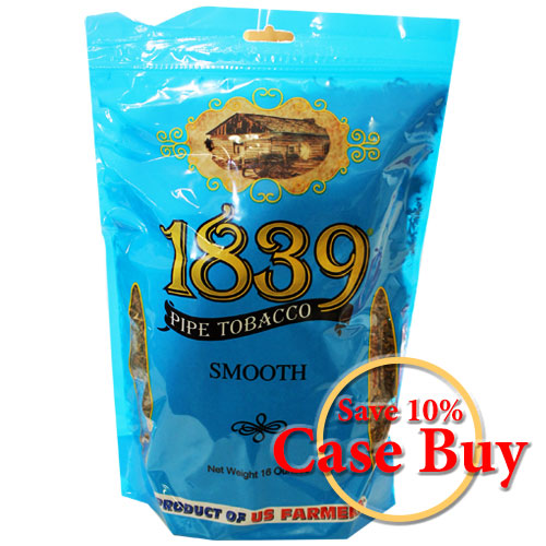 1839 Smooth Virginia Pipe Tobacco 16oz Blue Bag - 12ct Case