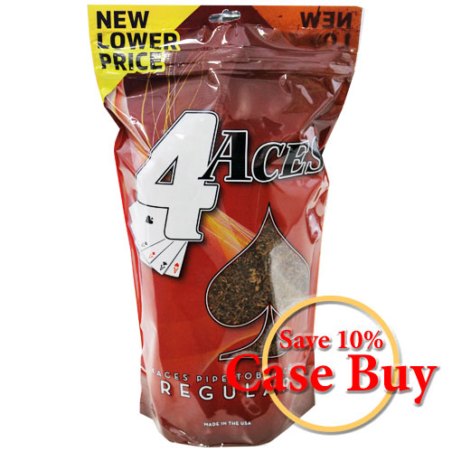 4 Aces Regular Pipe Tobacco 16oz Red Bag - 12ct Case