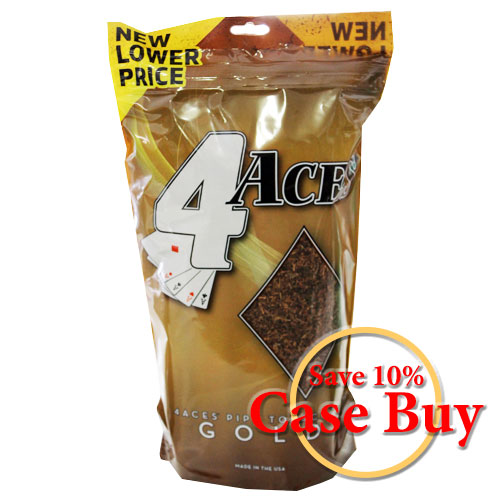 4 Aces Gold Pipe Tobacco 16oz - 12ct Case