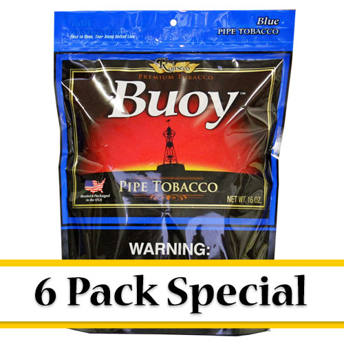 Buoy Blue Premium Pipe Tobacco 16oz - 6 Pack Special