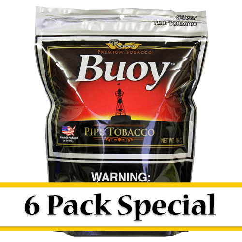 Buoy Silver Premium Pipe Tobacco 16oz - 6 Pack Special