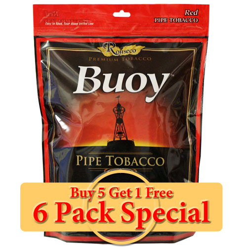 Buoy Red Premium Pipe Tobacco 16oz *Six Pack* Special