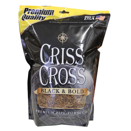 Criss Cross Black & Bold Pipe Tobacco 16oz Black Bag