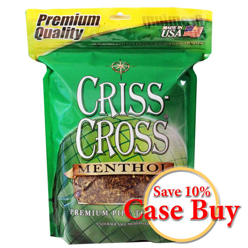 Criss Cross Menthol Pipe Tobacco 16oz Green Bag - 12ct Case