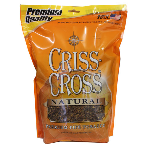 Criss Cross Natural Pipe Tobacco 16oz Brown Bag