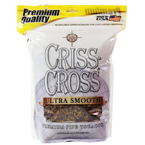 Criss Cross Ultra Smooth Pipe Tobacco 16oz Silver Bag