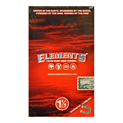 Elements 1 1/4 Slow Burn Hemp Rolling Papers 25ct Box