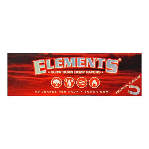 Elements 1 1/4 Slow Burn Hemp Rolling Papers Single Pack