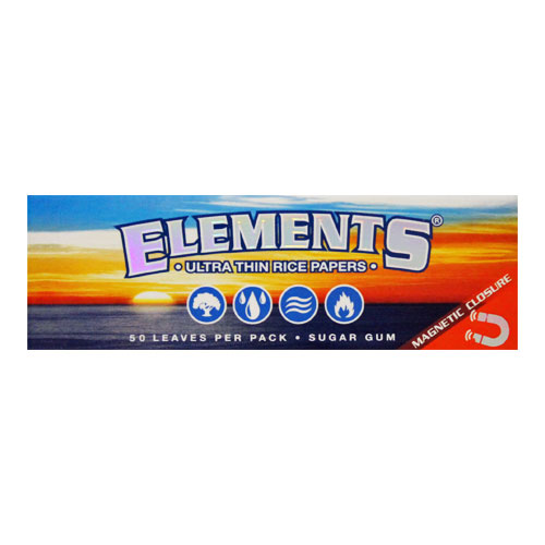 Elements 1 1/4 Ultra Thin Rice Rolling Papers Single Pack