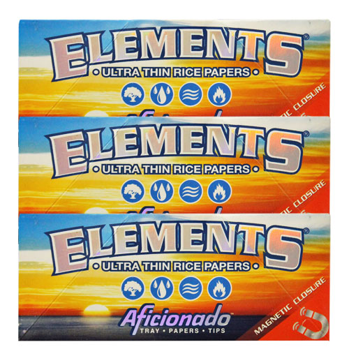 Elements Slim King Aficionado Rolling Papers 3 Pack