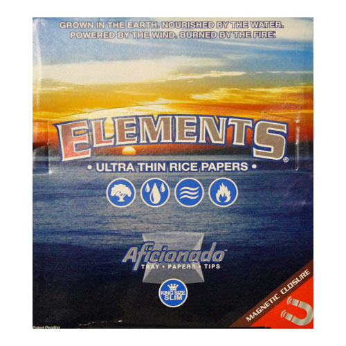 Elements Slim King Aficionado Rolling Papers 15ct Box