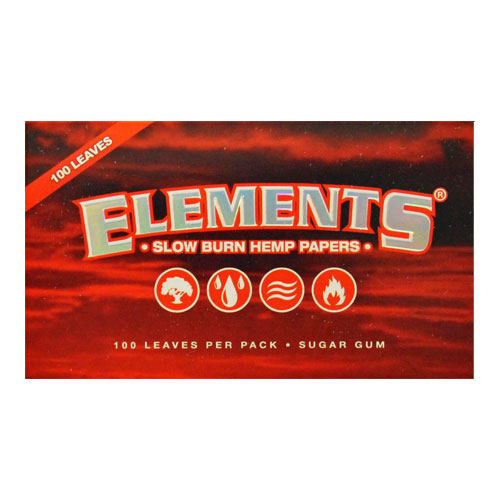 Elements Single Wide Slow Burn Hemp Rolling Papers Single Pack