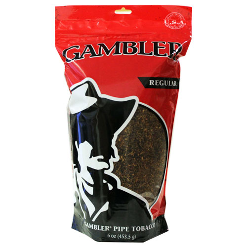 Gambler Regular Pipe Tobacco 6oz Red Bag