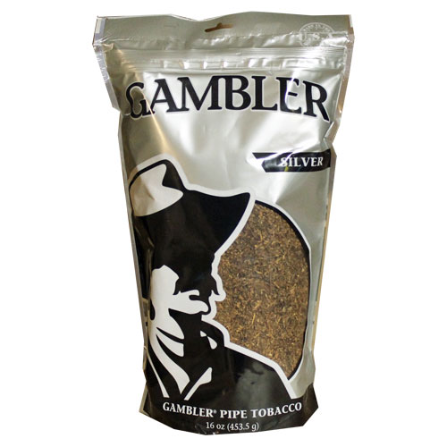 Gambler Silver Pipe Tobacco 16oz - Click Image to Close