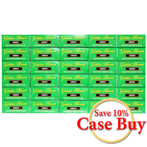 Golden Harvest Green Premium Filtered Cigars - 30 Ct Case Buy