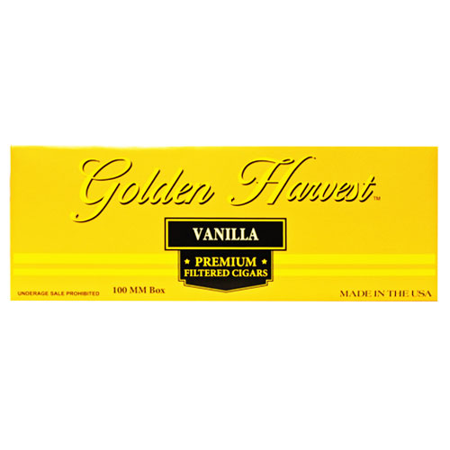 Golden Harvest Vanilla Premium Filtered Cigars 10ct