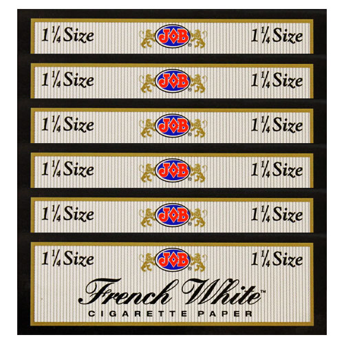 JOB French White 1 1/4 Size Rolling Papers 6 Pack
