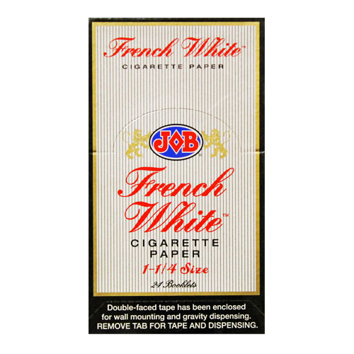 JOB French White 1 1/4 Size Rolling Papers 24ct Box