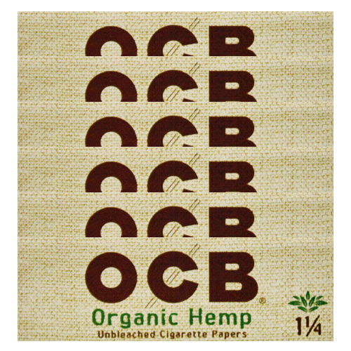 OCB Organic Hemp 1 1/4 Rolling Papers 6 Pack