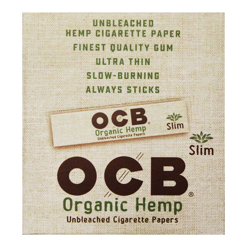OCB Organic Hemp Slim King Rolling Papers 24ct Box