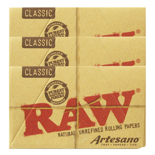 RAW 1 1/4 Size Artesano Natural Rolling Papers 3 Pack
