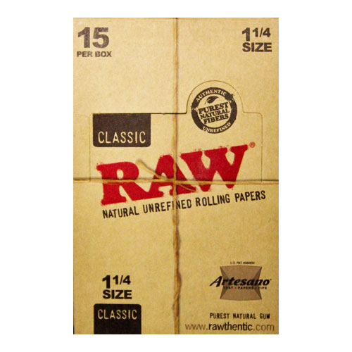 RAW 1 1/4 Size Artesano Natural Rolling Papers 15ct Box