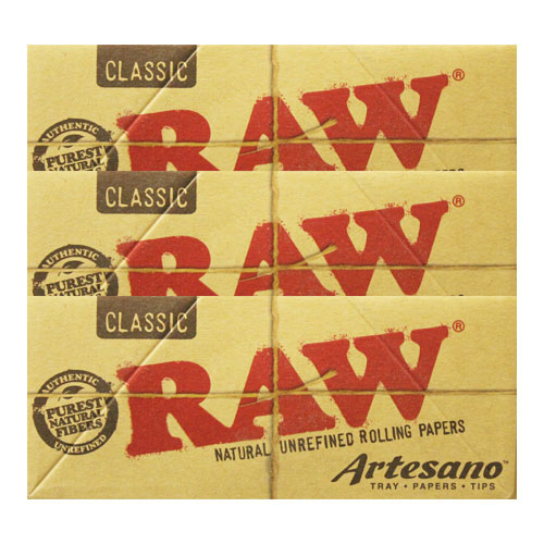 RAW Kingsize Slim Artesano Natural Rolling Papers 3 Pack