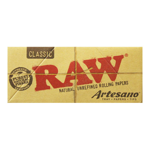 RAW Kingsize Slim Artesano Natural Rolling Papers Single Pack