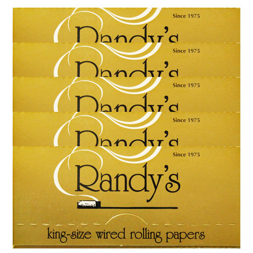 Randy's Wired Classic Gold King Size Rolling Papers 5 Pack