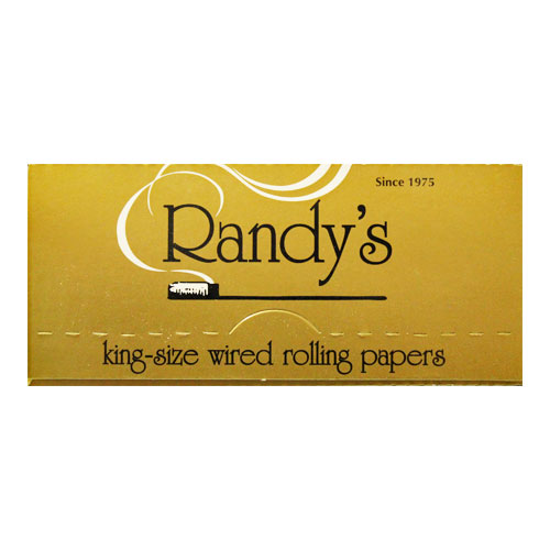 Randy's Wired Classic Gold King Size Rolling Papers Single Pack