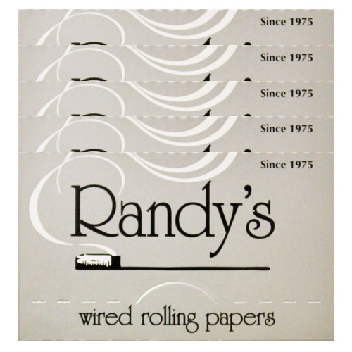 Randy's Wired Classic Silver 77mm Rolling Papers 5 Pack