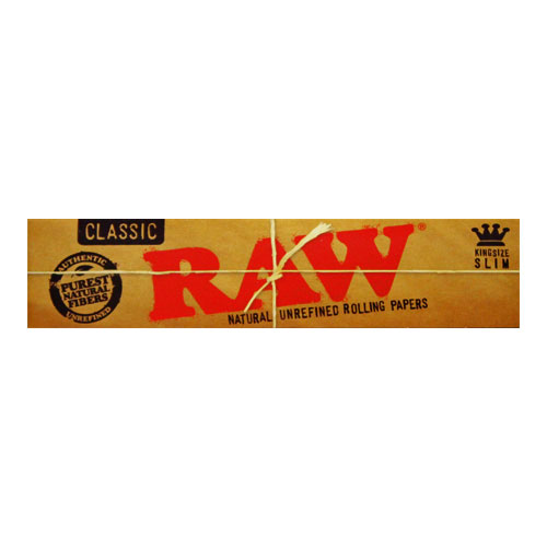 RAW Kingsize Slim Classic Natural Rolling Papers Single Pack