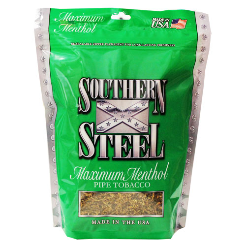 Southern Steel Maximum Menthol Pipe Tobacco 16oz Green Bag