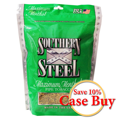 Southern Steel Maximum Menthol Pipe Tobacco 16oz -12ct Case