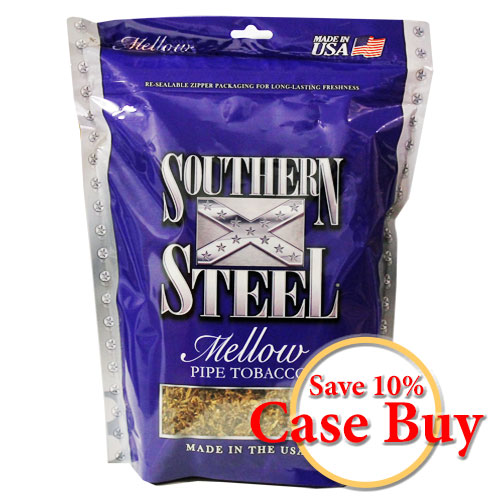 Southern Steel Mellow Pipe Tobacco 16oz - 12ct Case