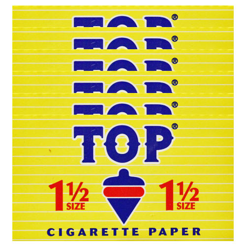 Top 1 1/2 Size Rolling Papers 6 Pack
