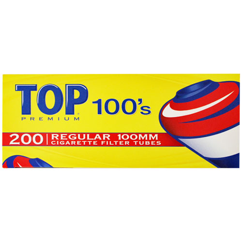 Top Regular 100mm Filter Tubes 200ct Box