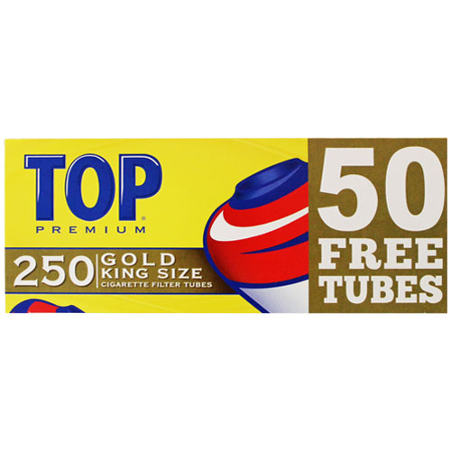 Top Gold King Size Filter Tubes 250ct Box