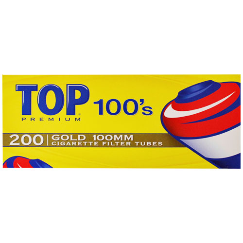 Top Gold 100mm Filter Tubes 200ct Box