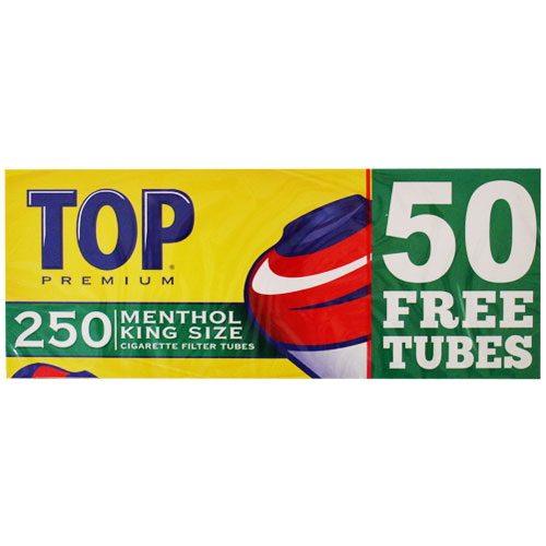 Top Menthol King Size Filter Tubes 250ct Box