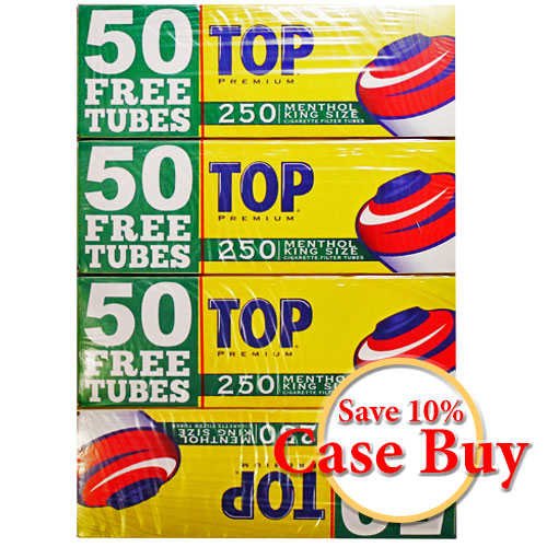 Top Menthol King Size Filter Tubes 250ct - 40ct Case