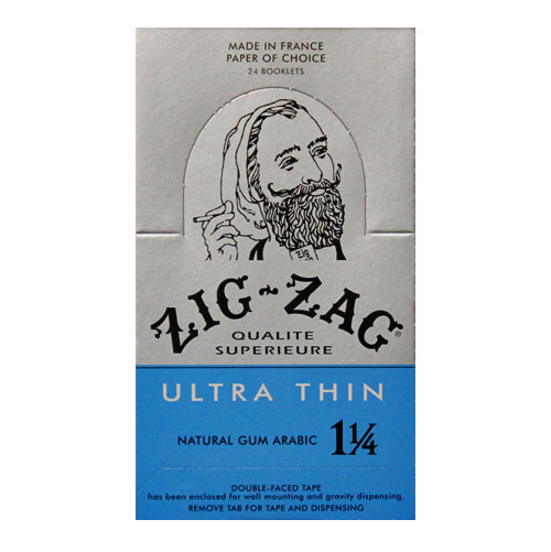 Zig Zag Ultra Thin 1 1/4 Size Rolling Papers 24ct Box