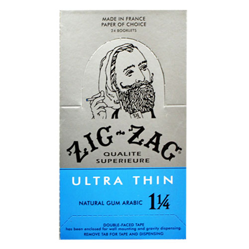 Zig Zag 1 1/4 Size Ultra Thin Rolling Papers 24ct Box