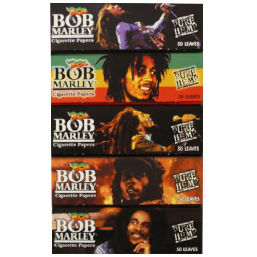 Bob Marley Hemp 1 1/4 Rolling Papers 5 Pack