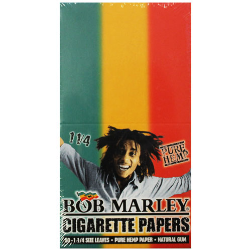Bob Marley Hemp 1 1/4 Rolling Papers 25ct Box