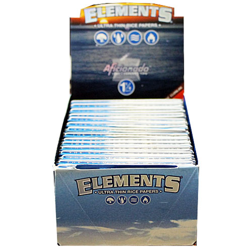 Elements Ultra Rice Aficionado 1 1/4 Rolling Papers Box
