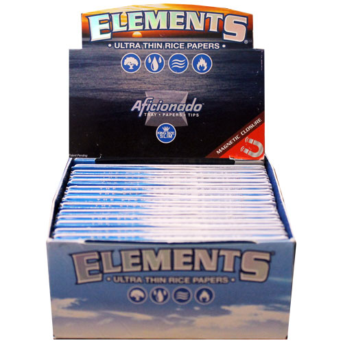 Elements Ultra Rice Aficionado Slim King Rolling Papers Box