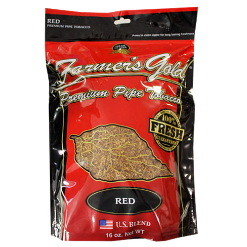 Farmers Gold Full Aroma Pipe Tobacco 6oz Red Bag