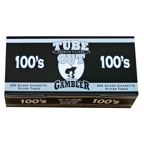 Gambler Tubecut Silver 100mm Filter Tubes 200ct