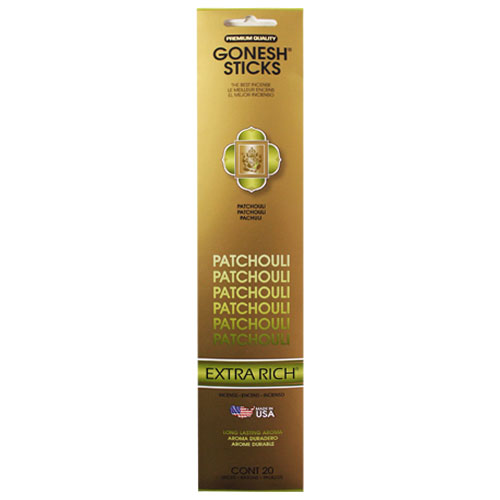 Gonesh Extra Rich Collection Patchouli - 20 Stick Pack
